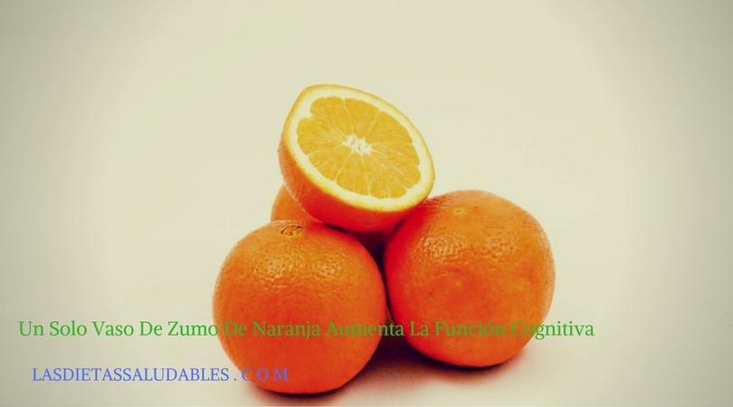 Un Solo Vaso De Zumo De Naranja Aumenta La Función Cognitiva
