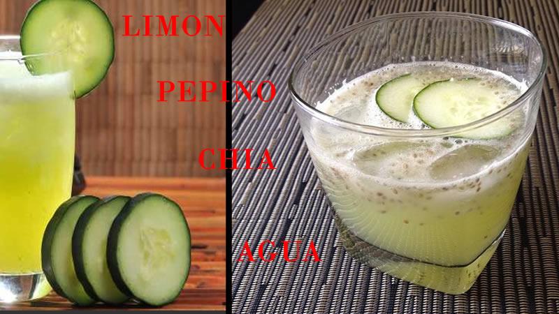 Agua De Limon Con Pepino y Chia