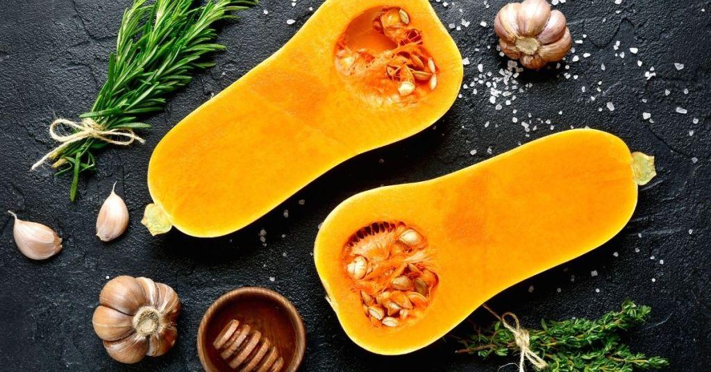 Calabaza butternut - alimentos con carbohidratos saludables