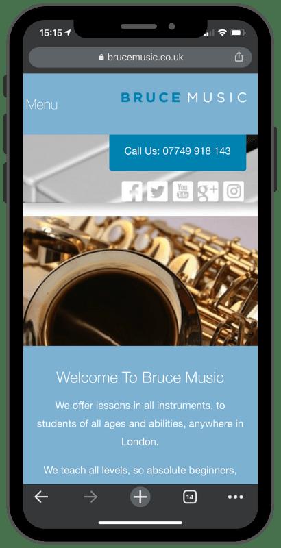 bruce music on iphone