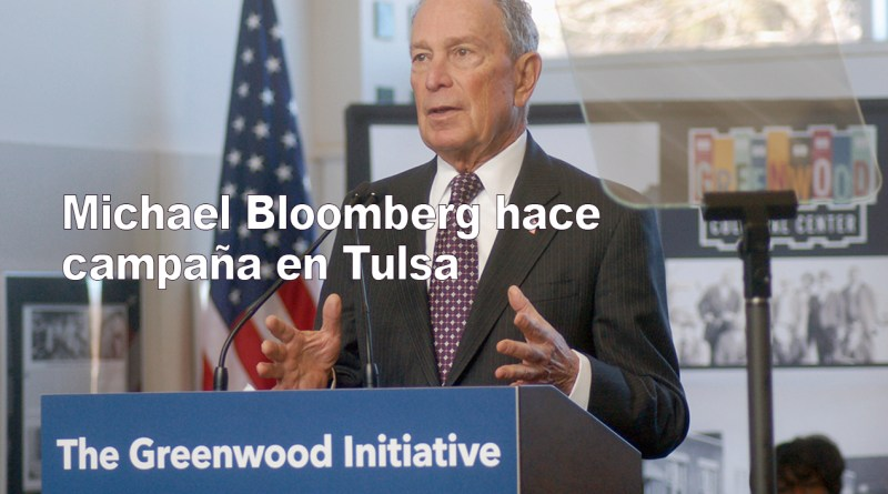 Michael Bloomberg campaigns in Tulsa