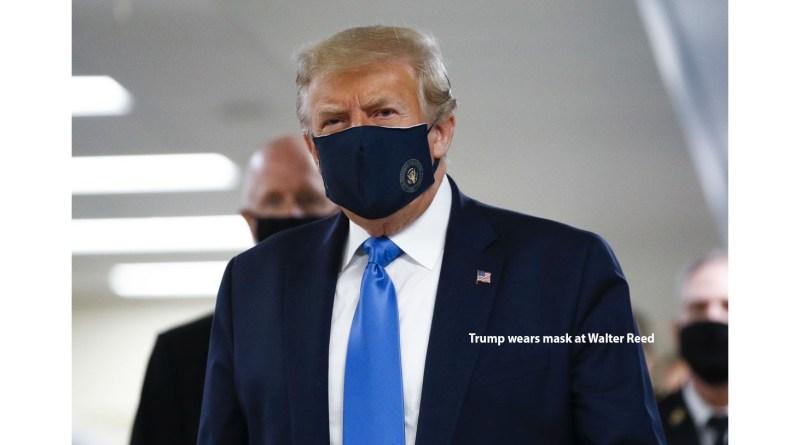 Coronavirus en Estados Unidos: las primeras imágenes de Trump con mascarilla mientras su país sigue con récord de contagios