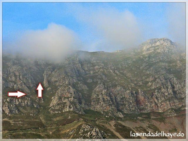 Canal de ascenso a la parte alta de la sierra