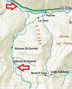 Mapa de la página de turismo de Aller