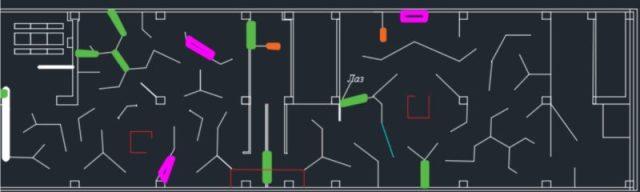 Лазертаг клуб Атака в Самаре, схема полигона Ди-Порт