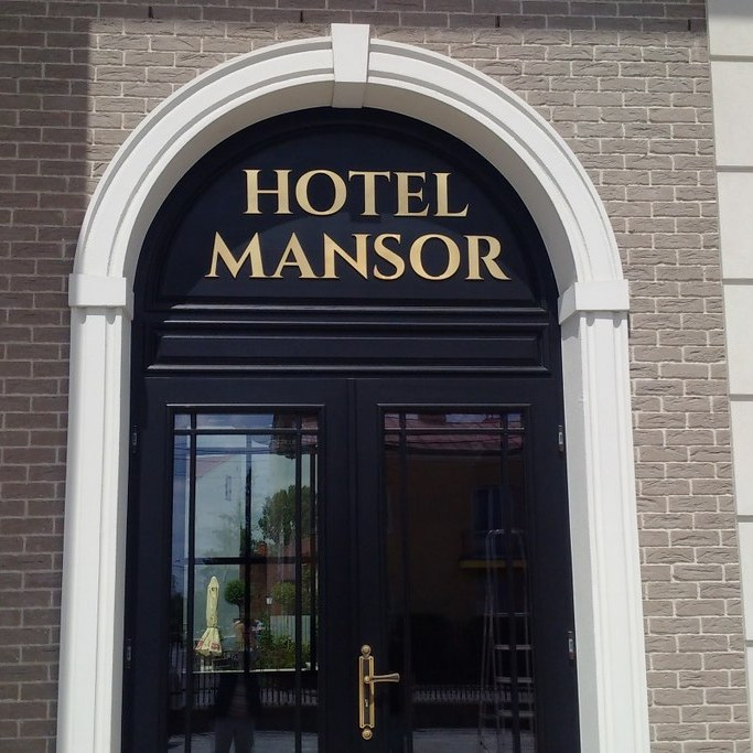 szyld na hotel mansor