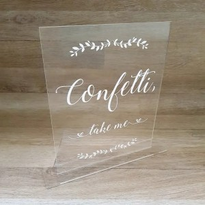 A4 Perspex Engraved Message LC4 R230