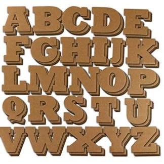 Alphabet Laser Cut Letters on Wood or MDF