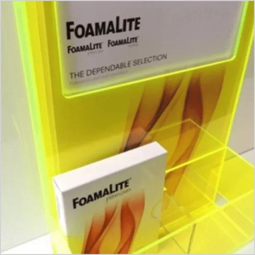 FLUORESCENT 2T51AR Yellow Frost 3mm