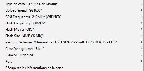 GRBL ESP32 - Configuration IDE Arduino
