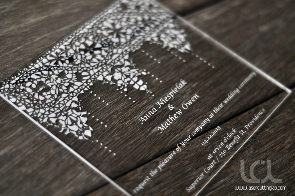 Cut Paper Wedding Invitations