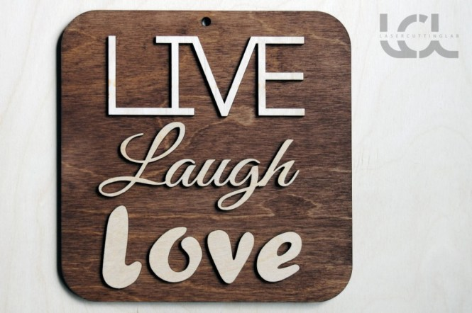 Black Wooden Words Sign Free Standing Live Love Laugh Wedding Home