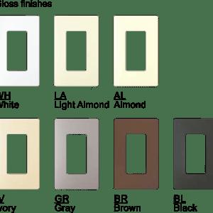 Lutron Engaved Gloss Trim Plates