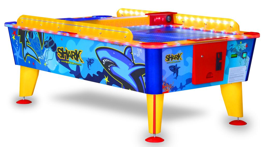 Airhockeytisch im Unterwasserdesign