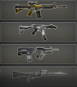 BRX Lasertag Waffenauswahl