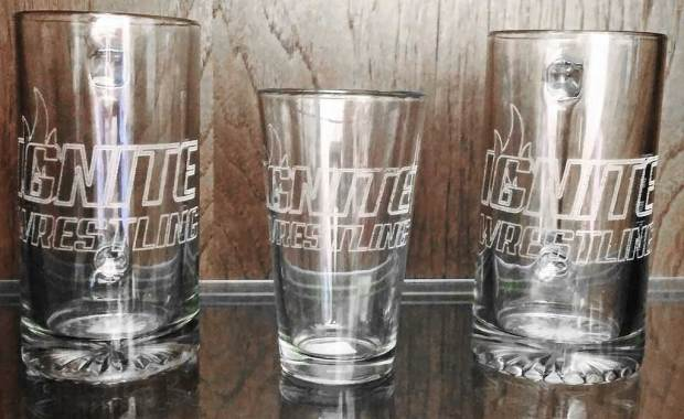 Ignite Wrestling Engraved Glassware Laser Mafia Vero Beach