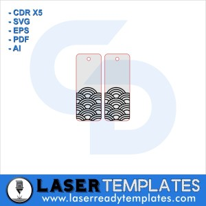 Abstract clouds earrings template laser ready