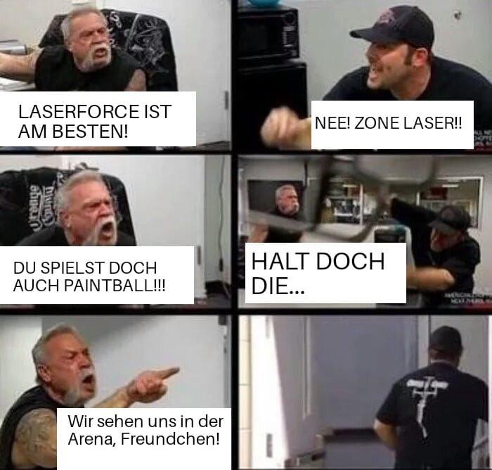 Laserforce ist am Besten
