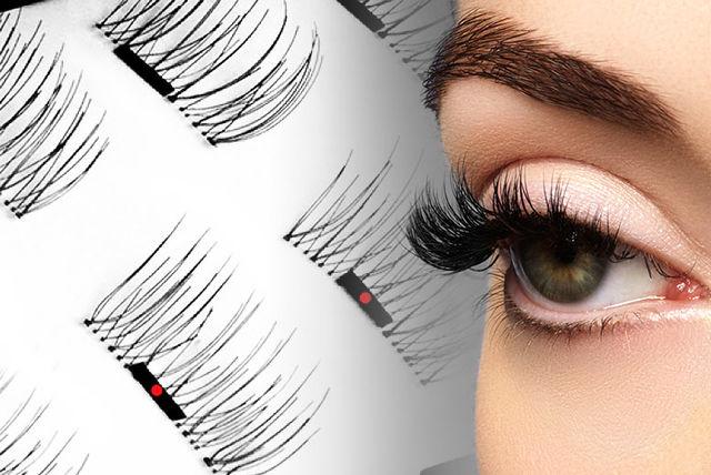 magnetic eye lashes on girl - Eyelash Blog & Beauty Tips