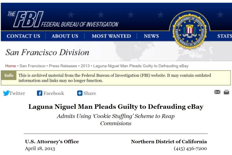 聯盟行銷詐騙 FBI