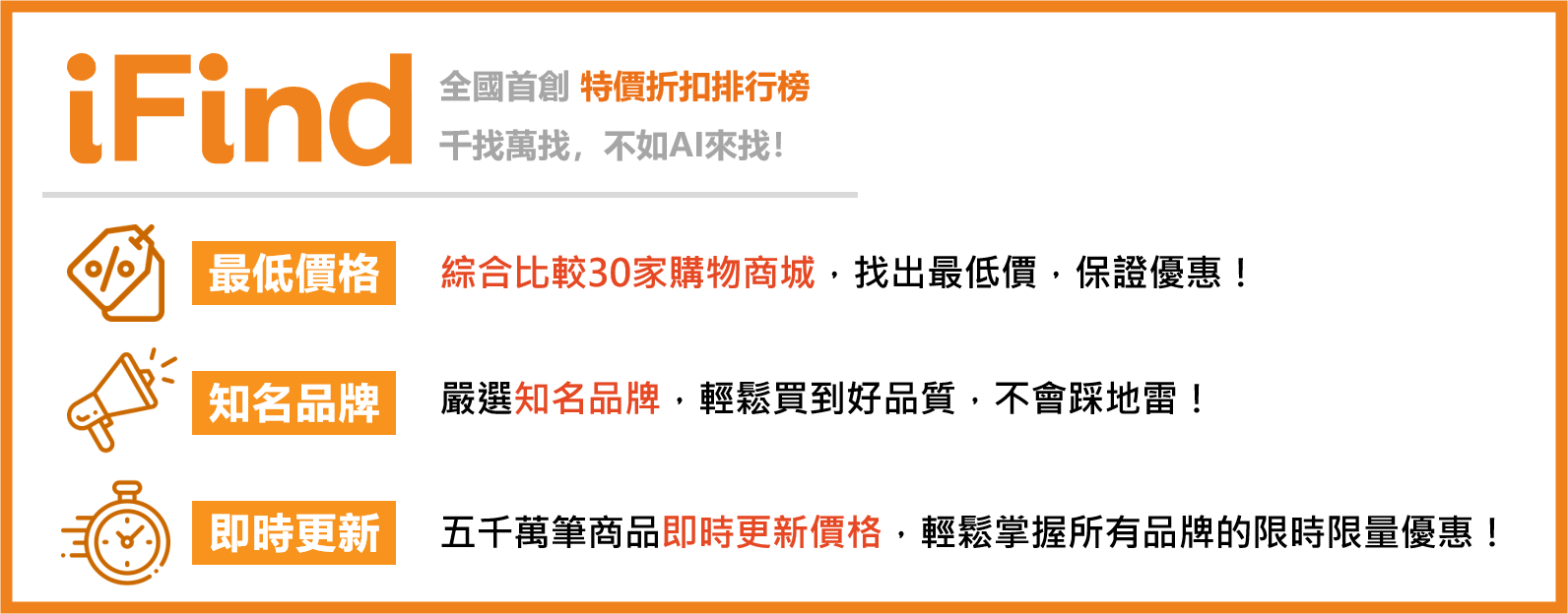 IFind 比價優惠工具