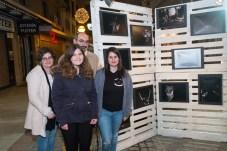 Noelia, Virginia, Marcos y Anabel autora de la fotos expuestas