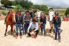 Biel con Canela, Vicens con Espiga, María con Nevada, Toni con Chico y Rodrigo del Club Equitación S'espiga ( Costitx) © La Siesta Press / J. Fernández Ortega