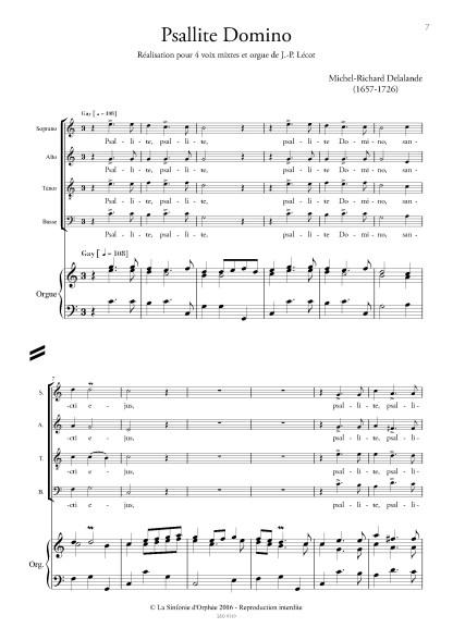 Michel-Richard DELALANDE Psallite Domino