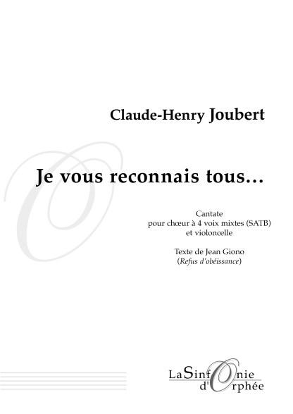Claude-Henri Joubert, je vous reconnais tous