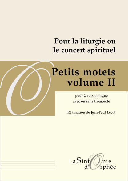 Jean-Paul Lécot Petits motets volume 2