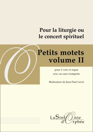 Jean-Paul Lécot Petits motets volume 2