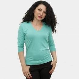 блуза-със-78-ръкав-ментов-цвят