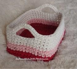 Cesta rosa trapillo (3)