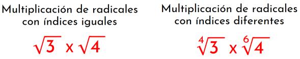 dos posibles casos de multiplicación de radicales