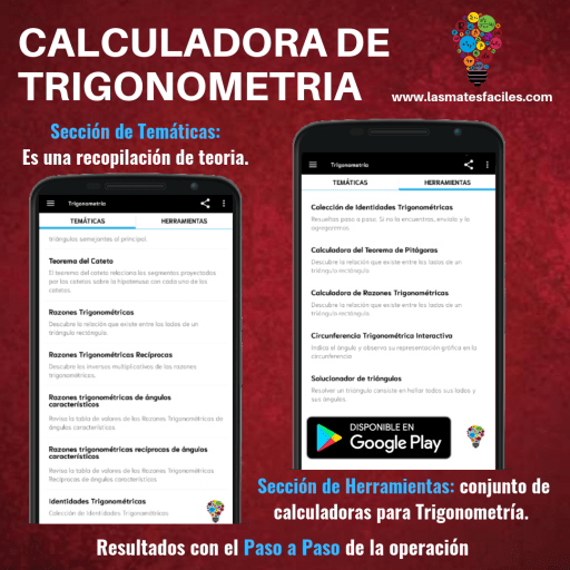 app calculadoras de trigonometría
