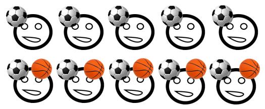 conjunto de estudiantes a los que les gusta el fútbol, suceso A