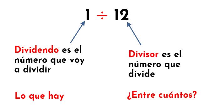 partes de una división