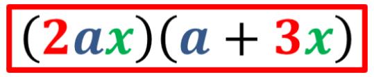 solución por factor común del ejemplo 1