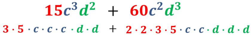 segundo ejemplo factor común expresado en factores