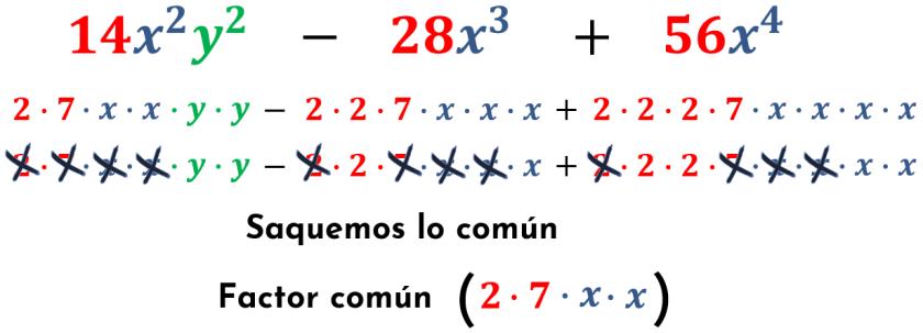 sacando el factor común del tercer ejemplo
