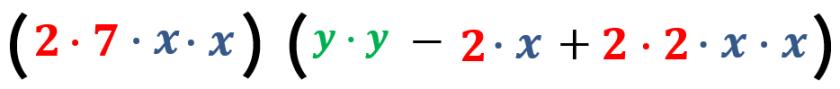 tercer ejemplo factorizado y expresado en factores