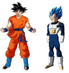 Goku es más alto que Vegeta