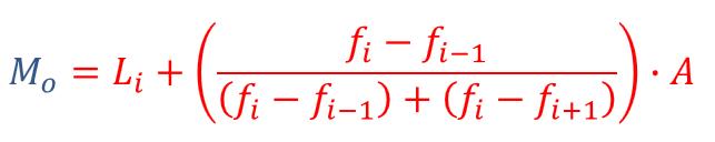 fórmula para calcular la moda en datos agrupados