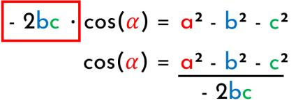despejar el teorema del coseno