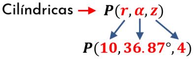 ejemplos de coordenadas cilíndricas