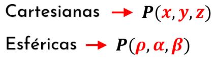 coordenadas cartesianas a esféricas