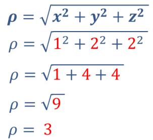calcular rho coordenadas esféricas fórmulas