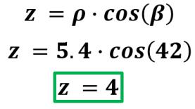 calcular z coordenadas esféricas