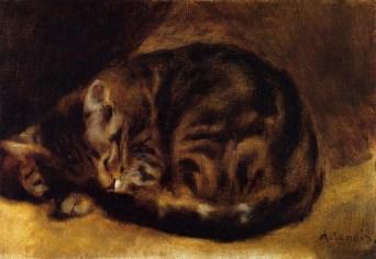 gato dormido, RENOIR