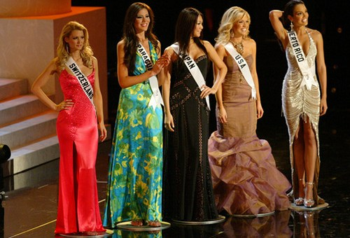 Five finalists at Miss Universe 2006